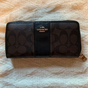 Brown & Black Zippered Wallet